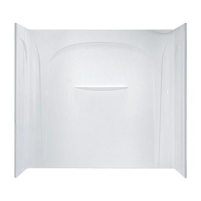 Acclaim 31-1/2 in. x 60 in. x 54 in. 3-piece Direct-to-Stud Tub and Shower Wall Set in White