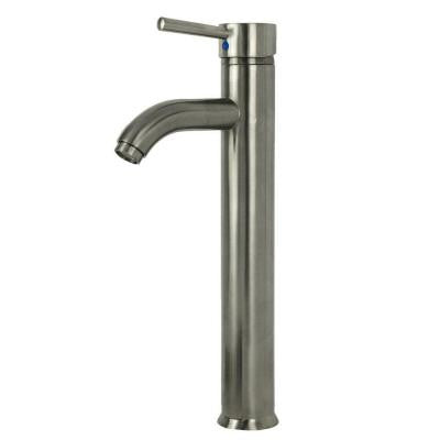 Ultime European 1-Hole 1-Handle High Arc Bathroom Vessel Faucet in Brushed Nickel