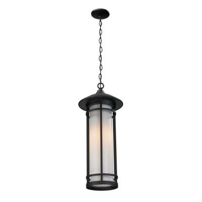 Grove 1-Light Black Outdoor Pendant