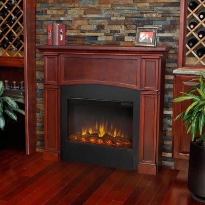 Bradford 46 in. Slim-Line Electric Fireplace in Dark Mahogany