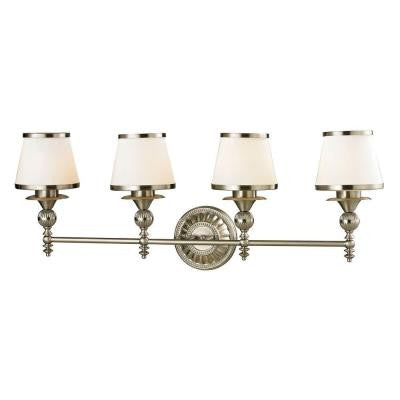 Smithfield 34 in. 4-Light Brushed Nickel Vanity Light