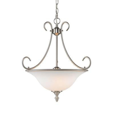 Yvette Collection 3-Light Pewter Pendant