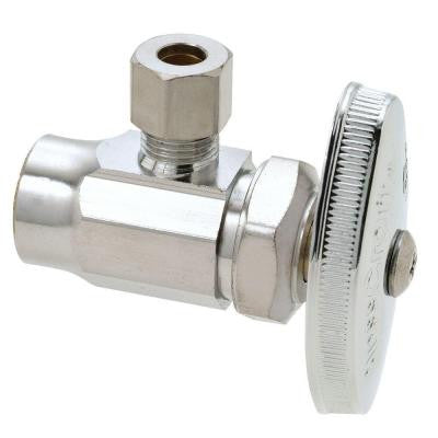 1/2 in. Nominal Sweat Inlet x 1/4 in. O.D. Compression Outlet Brass Multi-Turn Angle Valve (5-Pack)