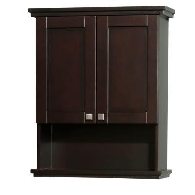 Acclaim 25 in. W x 9.125 in. D x 30 in. H Wall Cabinet in Espresso