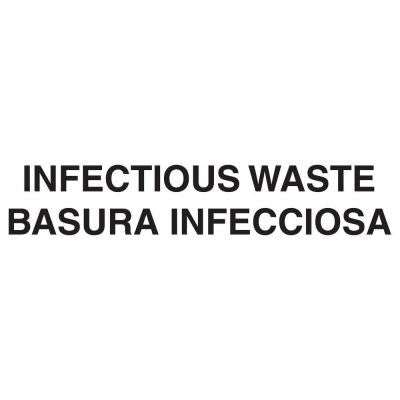 Bilingual Infectious Waste Decal