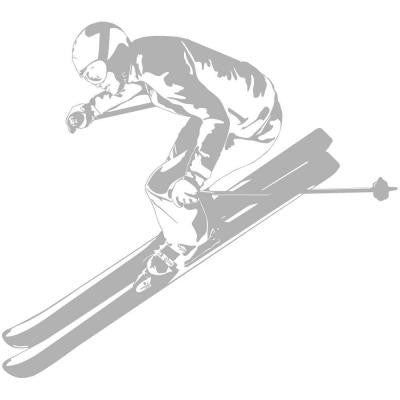 47 in. x 25 in. Skier Wall Decal