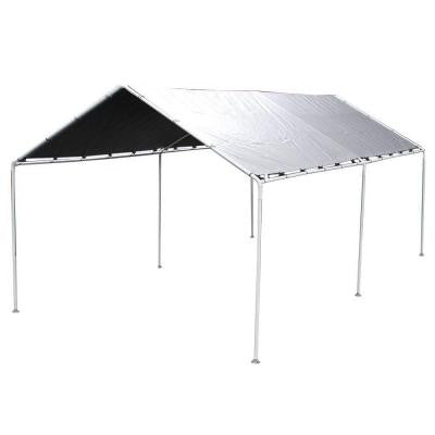 Shade King 10 ft. W x 20 ft. D Silver Carport