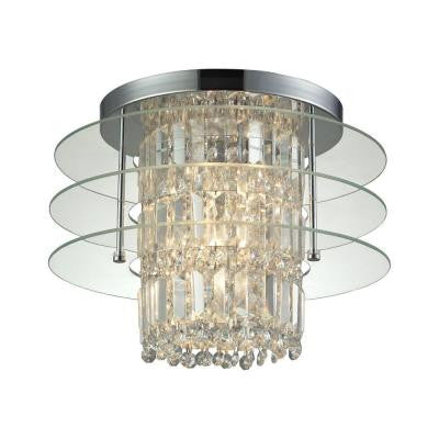 Zoey 16 in. 3-Light Polished Chrome Semi Flush Mount