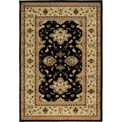 Shayd Black 5 ft. 2 in. x 7 ft. 6 in. Indoor/Outdoor Area Rug