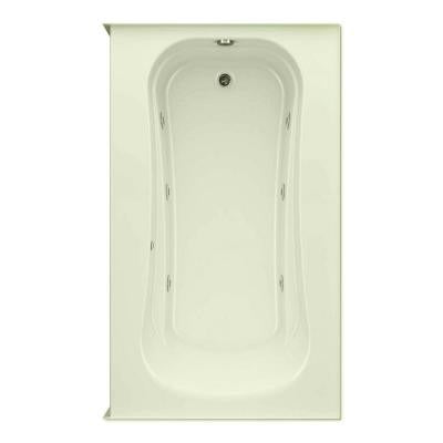 Cariani 6 ft. Right Drain Soaking Tub in Biscuit