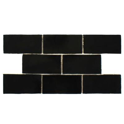 Chester Nero 3 in. x 6 in. Ceramic Wall Tile (1 sq. ft. / pack)