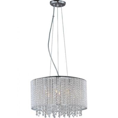 7-Light Chrome Levana Crystal Chandelier