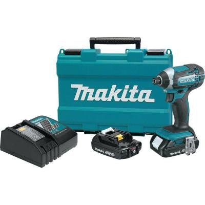 18-Volt Compact Lithium-Ion 1/4 in. Cordless Impact Driver Kit