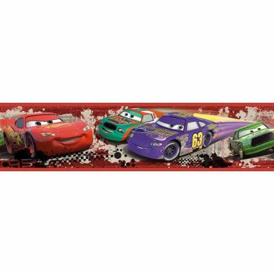 5 in. x 9.25 in. Cars Piston Cup Racing 1-Piece Peel and Stick Border