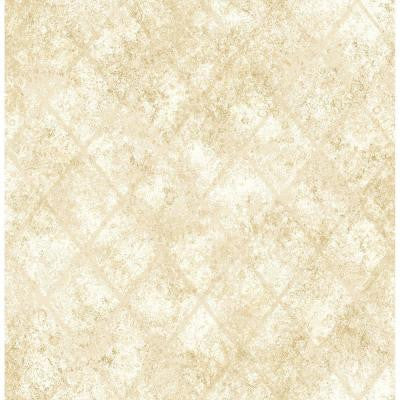 8 in. W x 10 in. H Gold Mercury Glass Distressed Metallic Wallpaper Sample