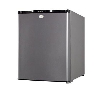1.06 cu. ft. Mini Refrigerator in Glass and Gray