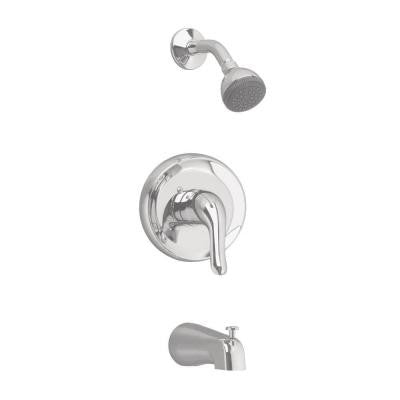 Colony Soft 1-Handle Tub and Shower Faucet Trim Kit in Satin Nickel (Valve Sold Separately)
