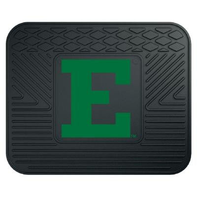 NCAA Eastern Michigan University Black Heavy Duty 1-Piece 14 in. x 17 in. Vinyl Utility Mat