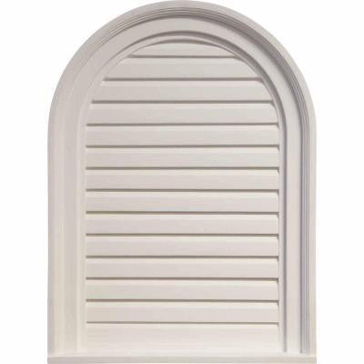 18 in. x 24 in. Decorative Cathedral Louver Gable Vent