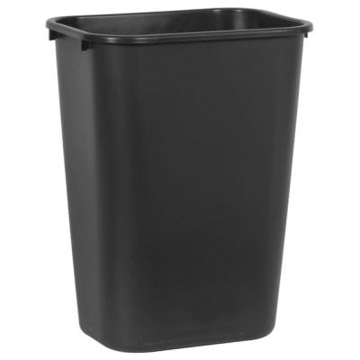 10.25 Gal. Black Rectangular Trash Can