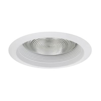 NICOR 6 in. White Recessed Airtight Cone Baffle Trim