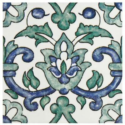 Bourges Gaia 7-3/4 in. x 7-3/4 in. Ceramic Wall Tile (10.76 sq. ft. / case)