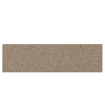 Identity Imperial Gold Fabric 4 in. x 12 in. Polished Porcelain Bullnose Floor and Wall Tile