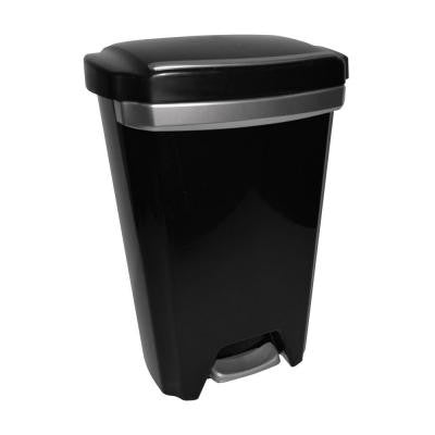12.5 Gal. Black Premium Step-On Trash Can