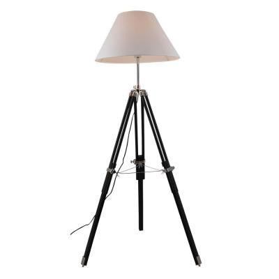 Ansel Tripod 63 in. Chrome and Black Floor Lamp