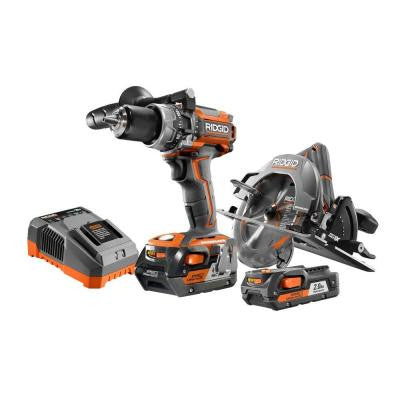 18-Volt Lithium-Ion Cordless Brushless Compact Hammer Drill/Driver and Circular Saw Combo Kit