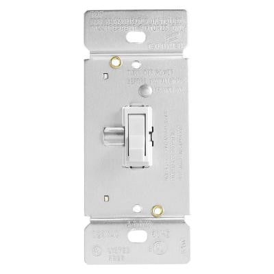 Trace 600-Watt Dimmer with Combination Single-Pole 3-Way Unit - White