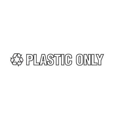 Plastic Only Recycle Decal