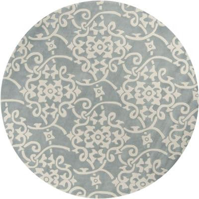 Meredith Silver Gray 8 ft. Round Area Rug