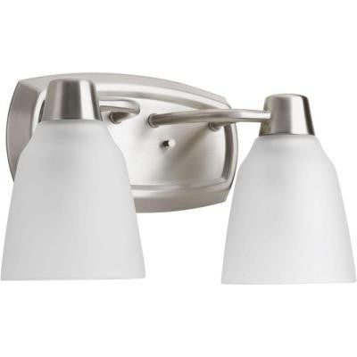 Asset Collection 2-Light Brushed Nickel Fluorescent Bath Light