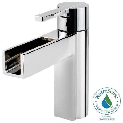 Vega 4 in. Single Hole Single-Handle Waterfall Bathroom Faucet in Polished Chrome
