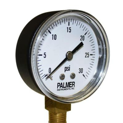 2.5 in. Dial 30 psi Painted Steel Case Utility Gauge