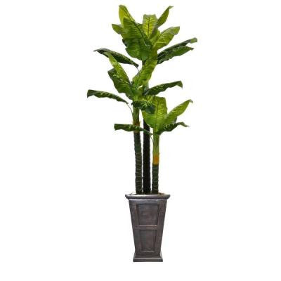 91 in. Tall Real Touch Evergreen in Planter