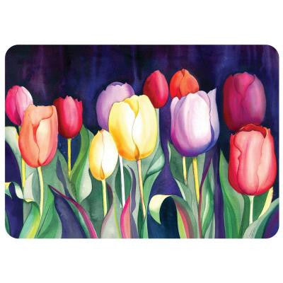 Tulips 22 in. x 31 in. Polyester Surface Mat