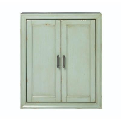 Hazelton 25 in. W Wall Cabinet in Antique Green