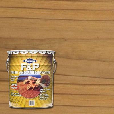 5-gal. F&P Natural Exterior Wood Stain Finish and Preservative