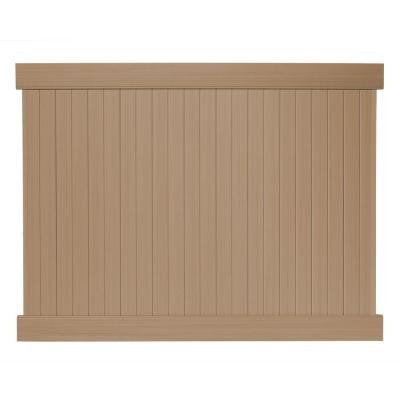 8 ft. x 6 ft. Cedar Grove Redwood Vinyl Privacy Fence Panel