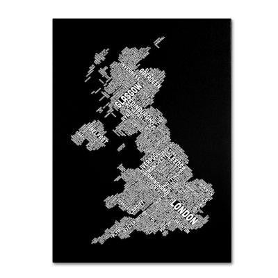 47 in. x 30 in. United Kingdom VIII Canvas Art