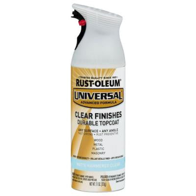 11 oz. Clear Flat Hammered Spray Paint