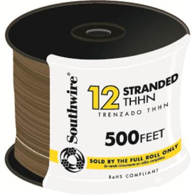 500 ft. 12 Stranded THHN Wire - Brown