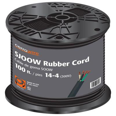 100 ft. Coil 14/4 Portable Power SJOOW Cord - Black