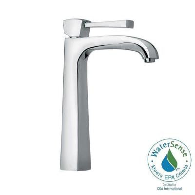 Lady Single Hole 1-Handle High-Arc Bathroom Vessel Faucet in Chrome