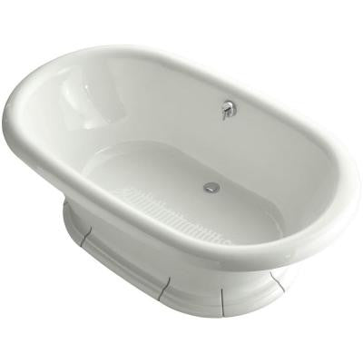 Vintage 6 ft. Center Drain Soaking Tub in Dune