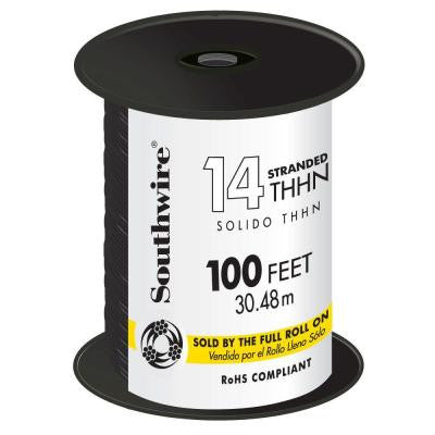 100 ft. 14 Stranded THHN Wire - Black