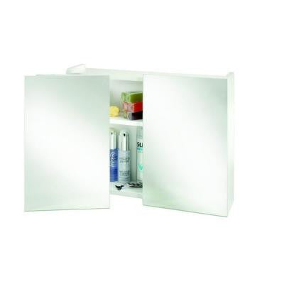 Swivel 18.5 in. H x 23.62 in. W x 6.3 in. D Double Door Medicine Cabinet Surface Mount Only in White with Swivel Mirrors