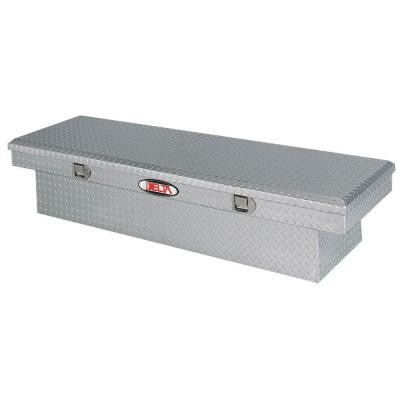 Delta 70 in. Aluminum Single Lid Aluminum Full Size Crossover Tool Box in Bright